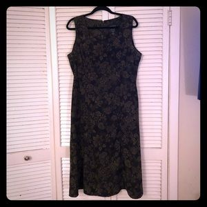 🌸NEW🌸EUC VTG A-line boho olive paisley dress